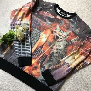 🐈 🛸Laser cats & UFOS cool Sweater🛸🐈